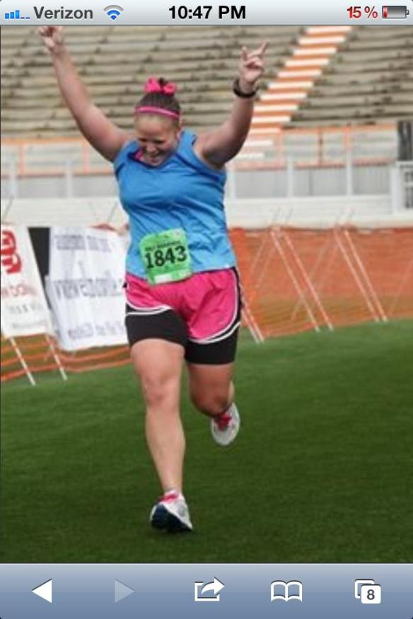 it is okay to celebrate running slower than everybody else
