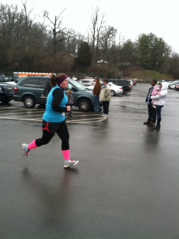 thankful that I had someone to get my big frown at the finish line.