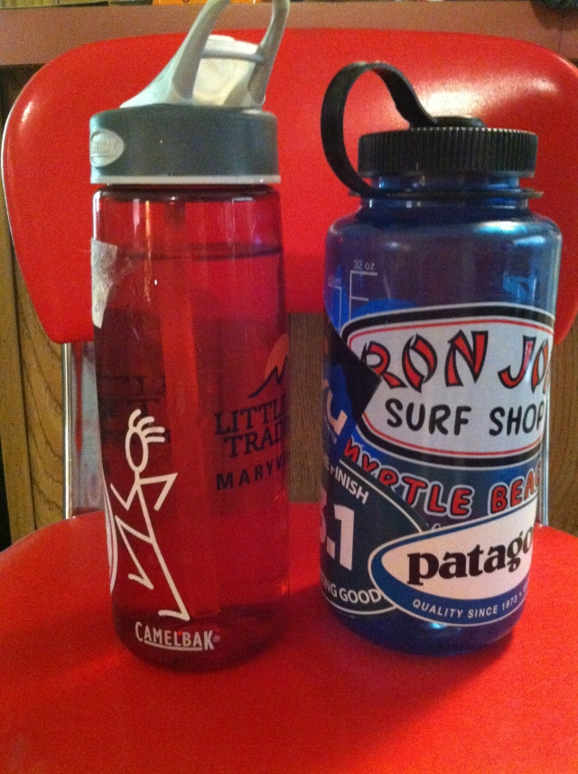two of my favorite water bottles.