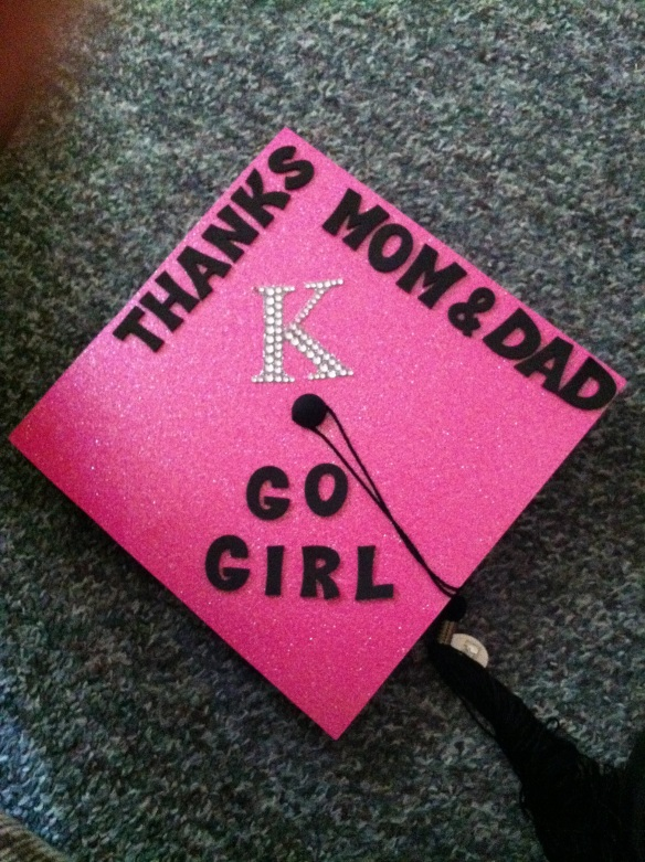 the cap I wore for graduation.  Had to throw in a blog plug.