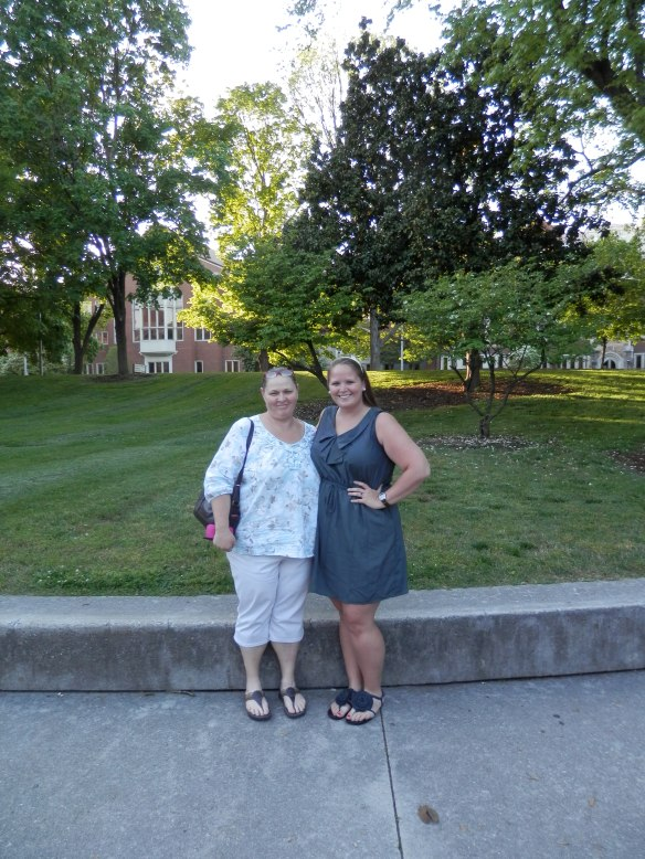 my sweet Momma and I at the reception held for students in my major.