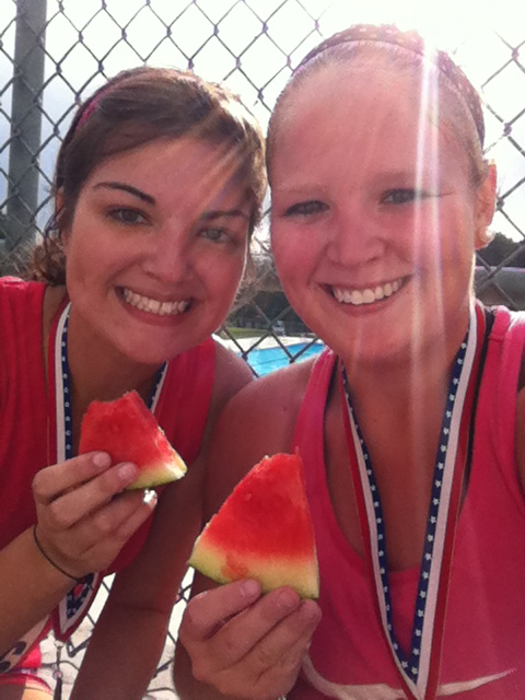 any race that serves watermelon as a post race snack is a great race.