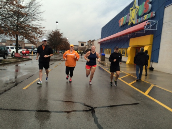 getting in a group run with some of the KTC team