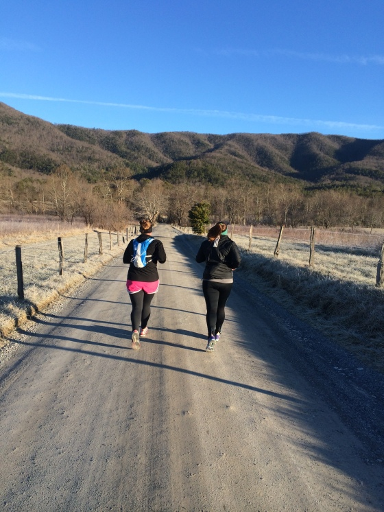 taking our long run to the mountains on MLK JR. Day